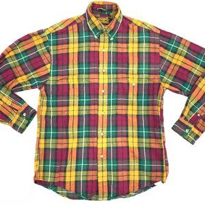 Eddie Bauer Bainbridge Flannel Button Down Shirt S
